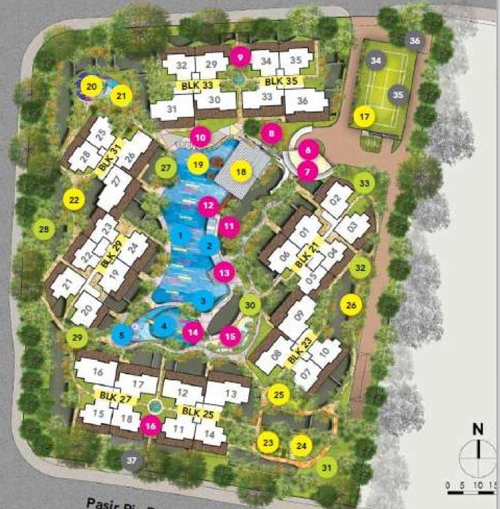 Watercolours Site Plan Amp Units Executive Condominium