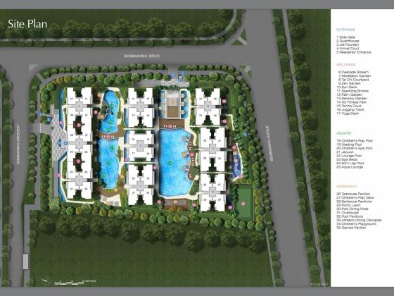 Skypark Residences Site plan