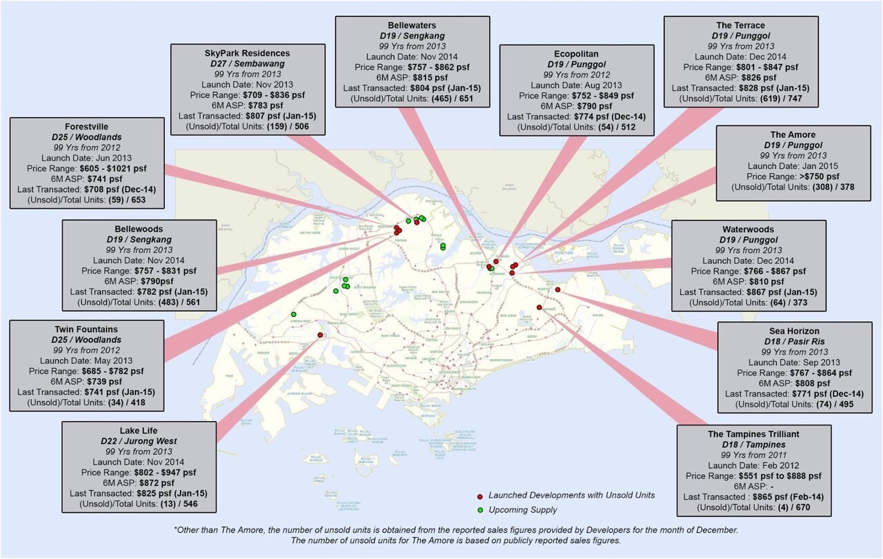 Singapore Executive Condominium launch in 2014 and 2015
