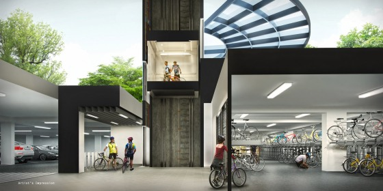 6.-B6-Secured-Covered-Bike-Garage-Cross-Section