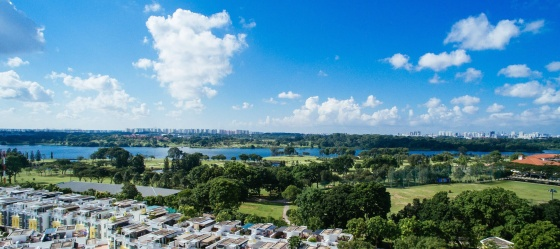 Signature At Yishun 12th floor view of reservoir and golf course