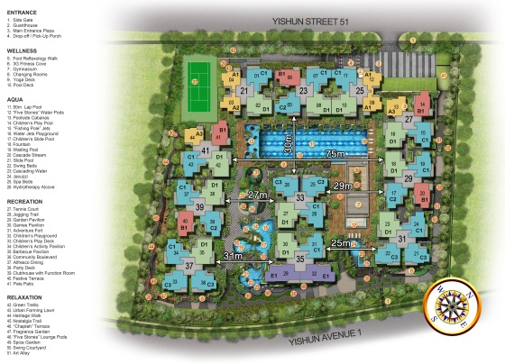 SAY_Site Plan with distance