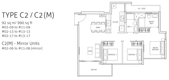 northwave-3bedroom-type-c2-floor-plan