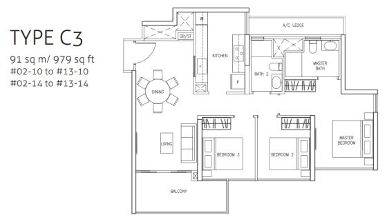 northwave-3bedroom-type-c3-floor-plan