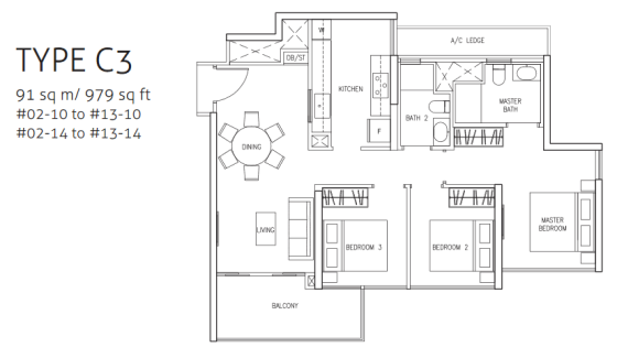 northwave-3bedroom-type-c3-floor-plan