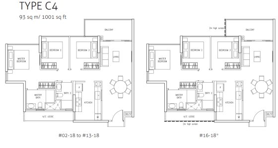 northwave-3bedroom-type-c4-floor-plan